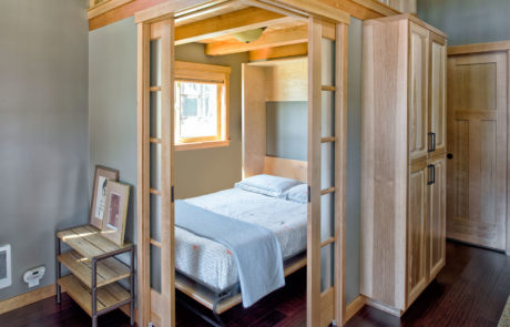 Flex room | Murphy bed pulled down to create bedroom