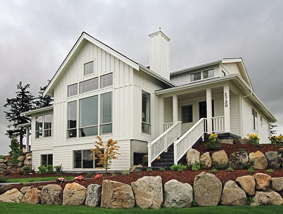 Modern farmhouse custom home - the Ridge Project