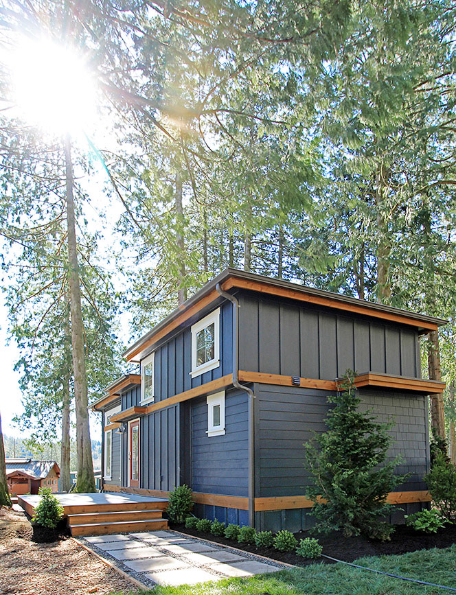 Salish tiny home located at Wildwood Lakefront Cottages