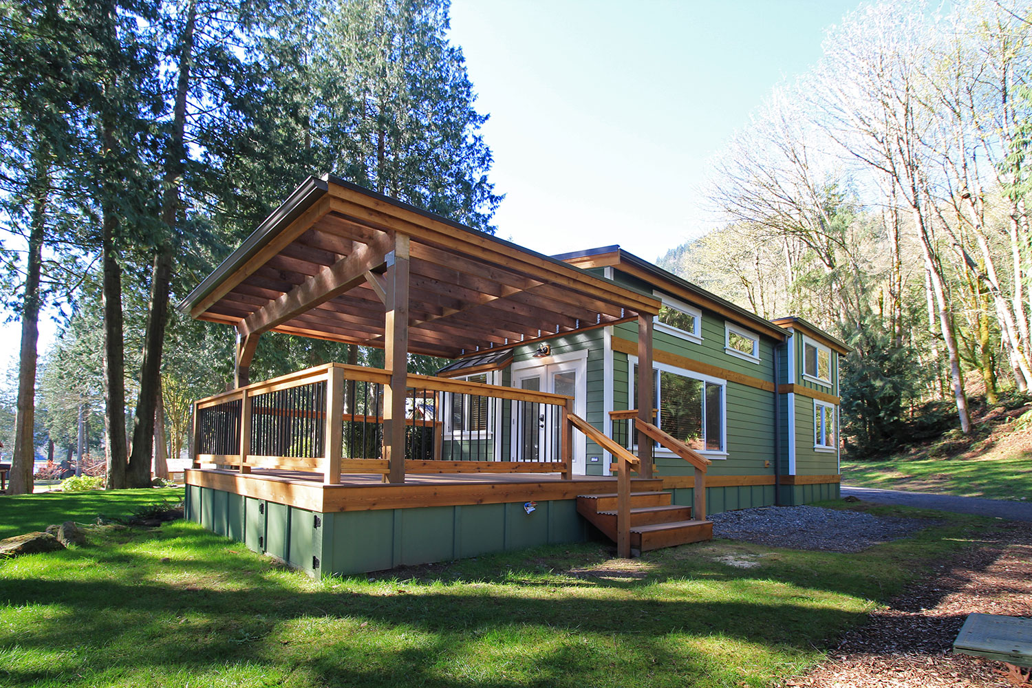 Whidbey Park Model Tiny Home Exterior