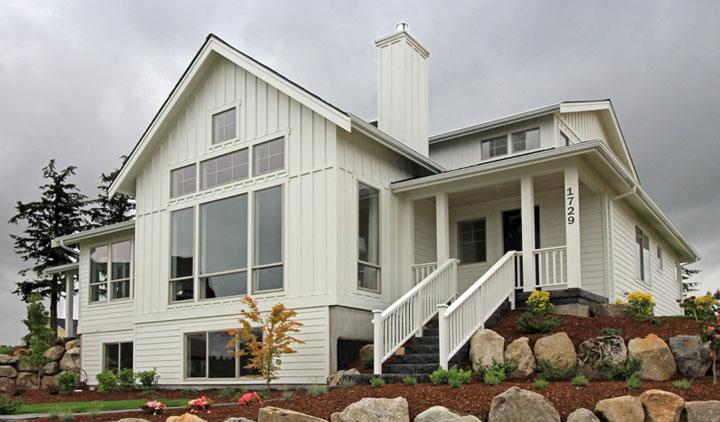 West Coast Homes white custom home