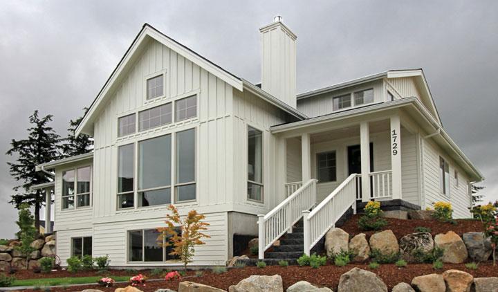 West Coast Homes white custom home
